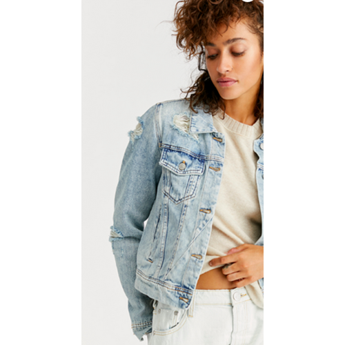 FREE PEOPLE FREE PEOPLE RUMORS DENIM JACKET