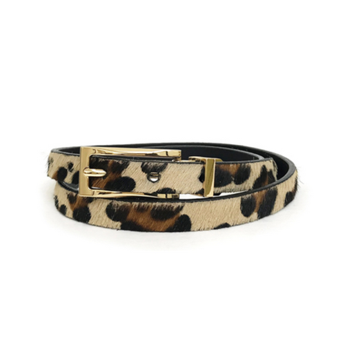 BRAVE LEATHER BRAVE LEATHER HELKI LEOPARD REVERSIBLE BELT