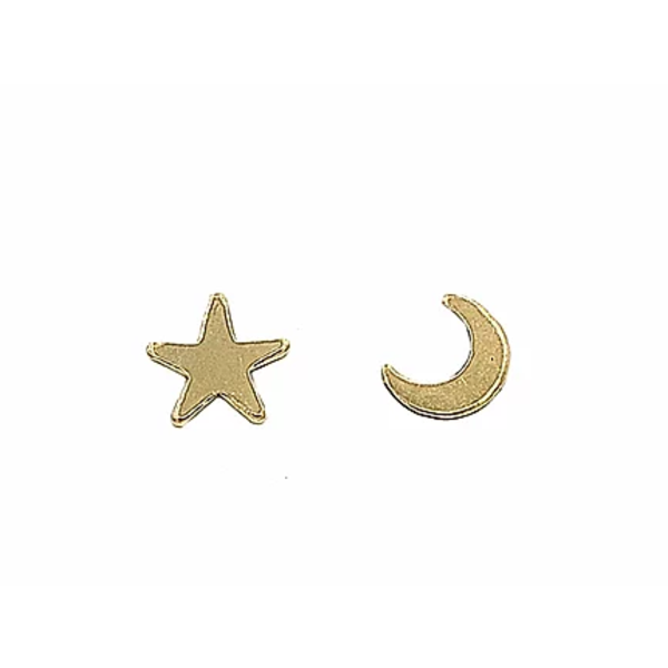 PARADIGM STAR AND MOON STUDS