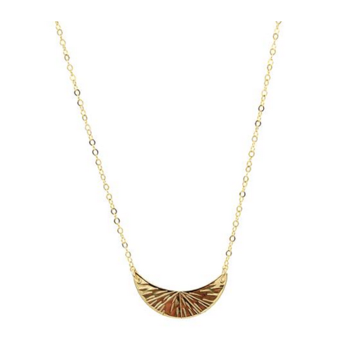 paradigm PARADIGM SMALL CRESCENT BURST NECKLACE
