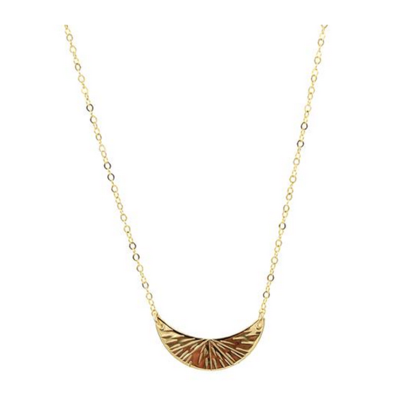 PARADIGM SMALL CRESCENT BURST NECKLACE