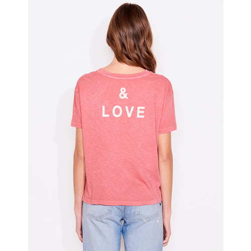 SUNDRY SUNDRY PEACE AND LOVE VINTAGE TEE