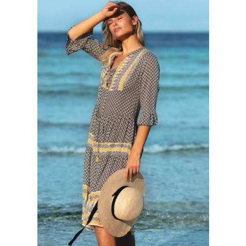 BEACHGOLD BALI BEACHGOLD BALI FREDDIE MIDI DRESS