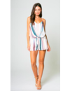 LAVENDER BROWN WATER COLOR ROMPER