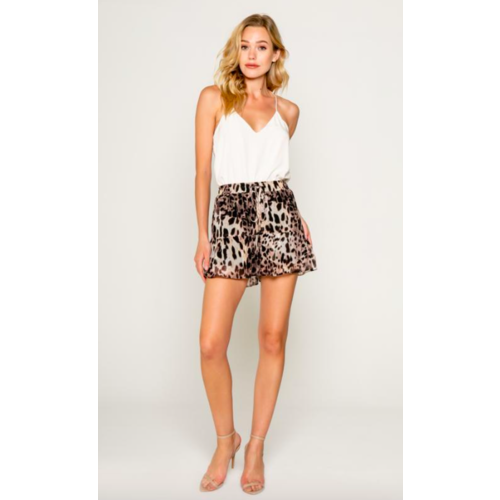 LAVENDER BROWN LAVENDER BROWN CHEETAH PRINTED SHORTS