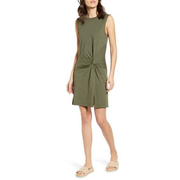 STATESIDE SUPIMA SIDE TWIST TANK DRESS