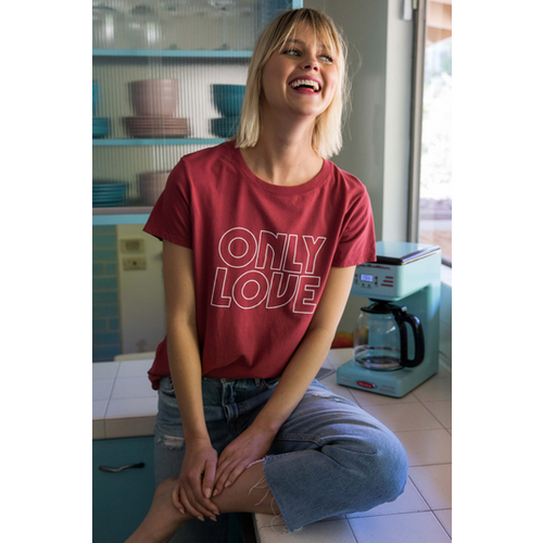 SUBURBAN RIOT SUBURBAN RIOT ONLY LOVE LOOSE TEE