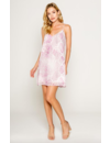 LAVENDER BROWN SNAKESKIN MINI DRESS