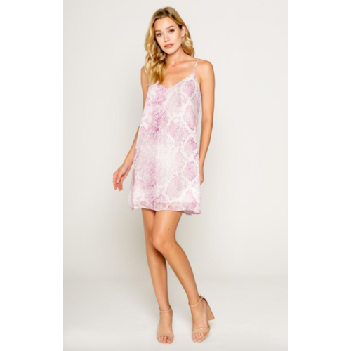 LAVENDER BROWN LAVENDER BROWN SNAKESKIN MINI DRESS