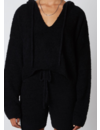 NIA NOTCHED HOODED SWEATER