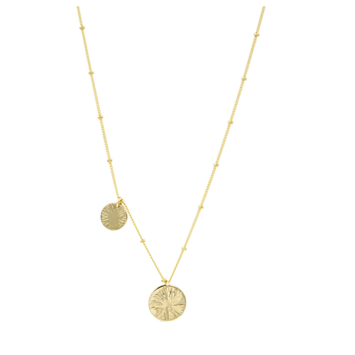 paradigm PARADIGM DOUBLE BURST COIN NECKLACE