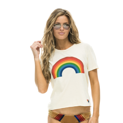AVIATOR NATION AVIATOR NATION BIG RAINBOW BOYFRIEND TEE