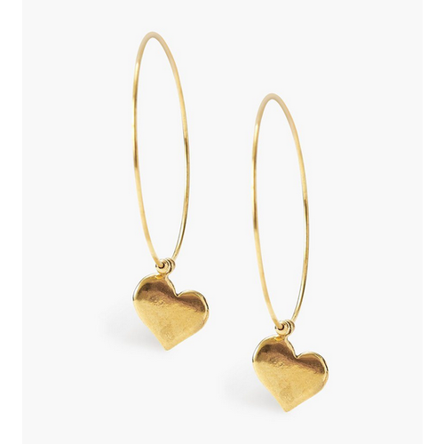 CHAN LUU CHAN LUU HEART HOOP EARRINGS