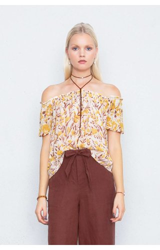 CHAN LUU CHAN LUU HONEY GOLD BLOUSE