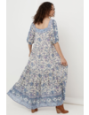 SPELL FOLK SONG SQUARE NECK GOWN