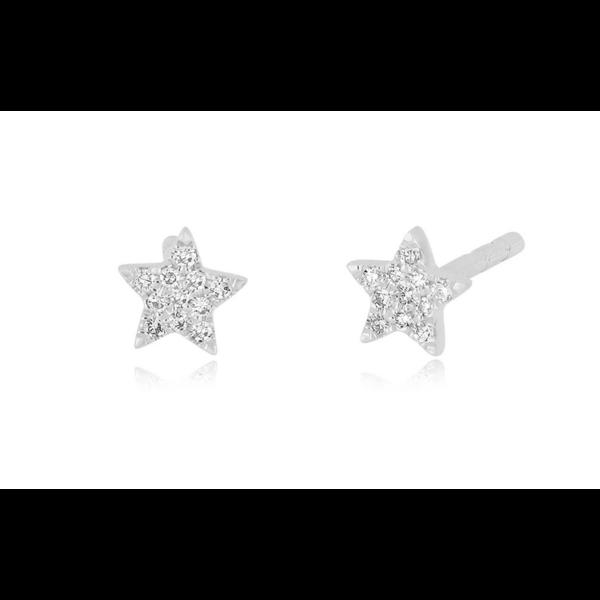 EF COLLECTION BABY DIAMOND STAR STUD EARRING