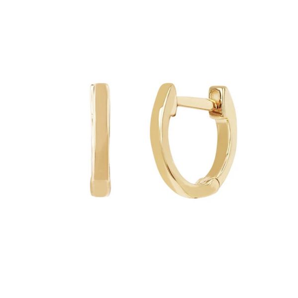 EF COLLECTION GOLD MINI HUGGIE EARRING