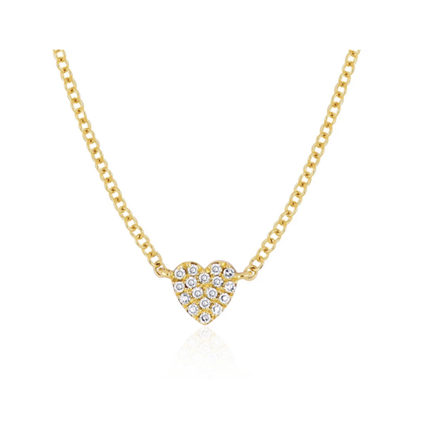 EF COLLECTION BABY DIAMOND HEART NECKLACE