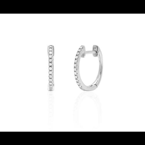 EF COLLECTION EF COLLECTION MINI DIAMOND HUGGIE EARRINGS