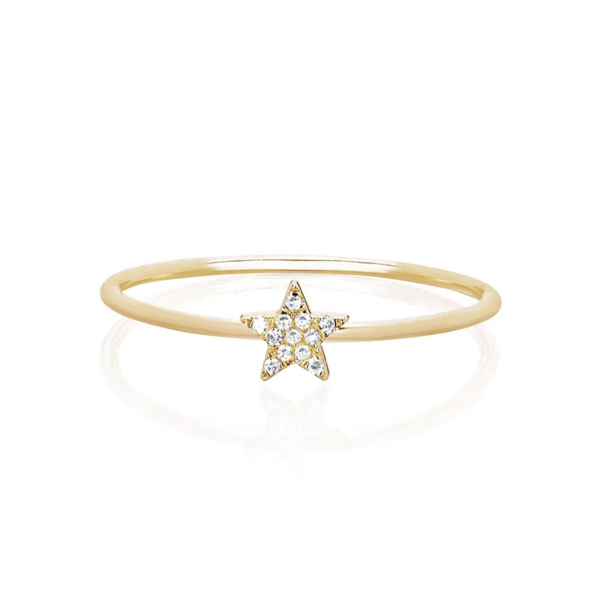 EF COLLECTION MINI DIAMOND STAR STACK RING