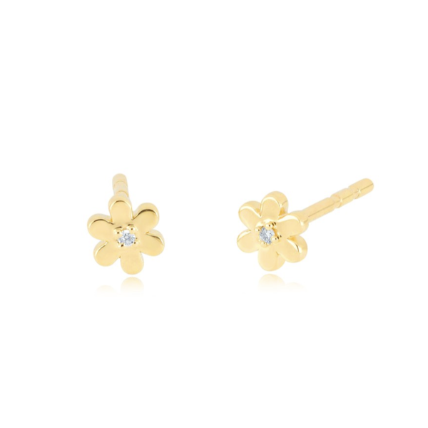 EF COLLECTION BABY DAISY STUD EARRING