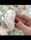 EF COLLECTION BABY DIAMOND HEART STUD EARRINGS