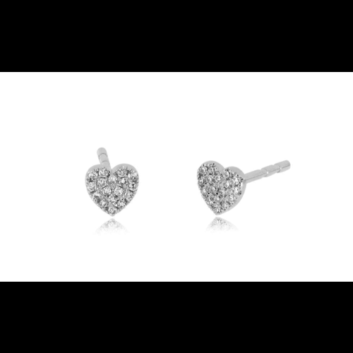 EF COLLECTION EF COLLECTION BABY DIAMOND HEART STUD EARRINGS