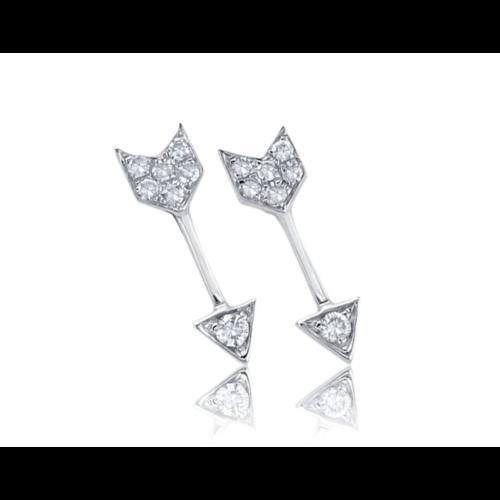 EF COLLECTION EF COLLECTION DIAMOND MINI ARROW STUD EARRINGS