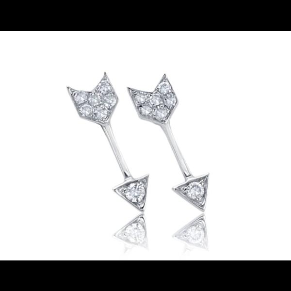 EF COLLECTION DIAMOND MINI ARROW STUD EARRINGS
