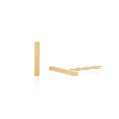 EF COLLECTION EF COLLECTION GOLD MINI BAR STUD EARRING