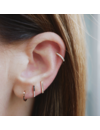 EF COLLECTION GOLD MINI BAR STUD EARRING
