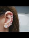 EF COLLECTION DIAMOND VERTICAL TRIPLE BEZEL STUD EARRING