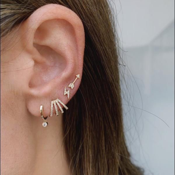 EF COLLECTION DIAMOND MULTI HUGGIE EARRRING