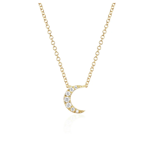 EF COLLECTION EF COLLECTION DIAMOND MOON CHOKER NECKLACE