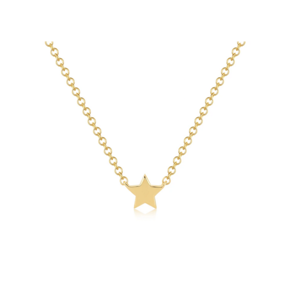 EF COLLECTION BABY GOLD STAR NECKLACE