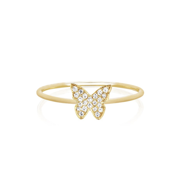 EF COLLECTION DIAMOND BUTTERFLY STACK RING