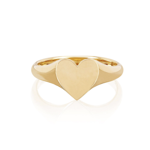 EF COLLECTION EF COLLECTION GOLD HEART SIGNET RING