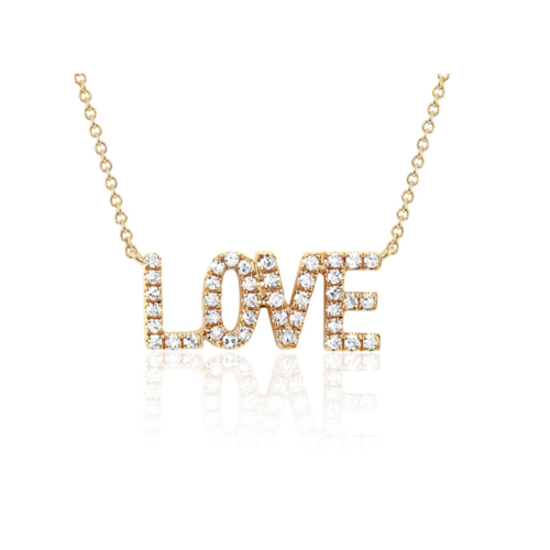 EF COLLECTION EF COLLECTION MINI DIAMOND LOVE NECKLACE