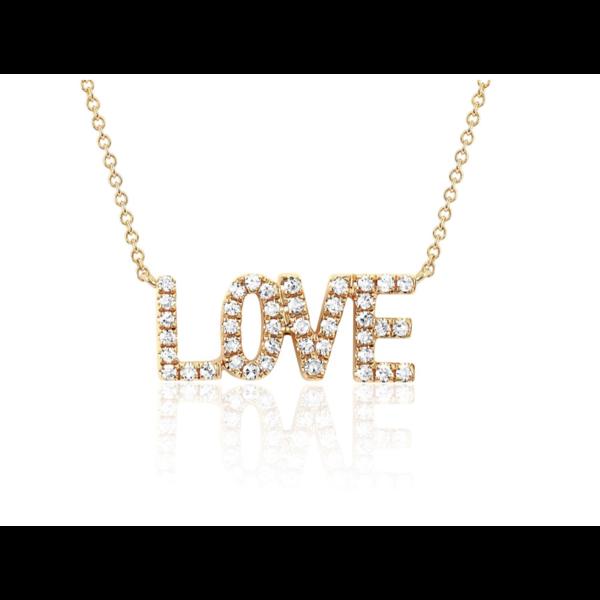 EF COLLECTION MINI DIAMOND LOVE NECKLACE