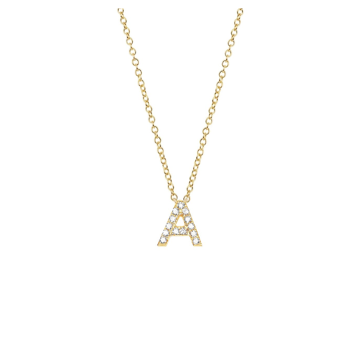 EF COLLECTION EF COLLECTION DIAMOND INITIAL NECKLACE