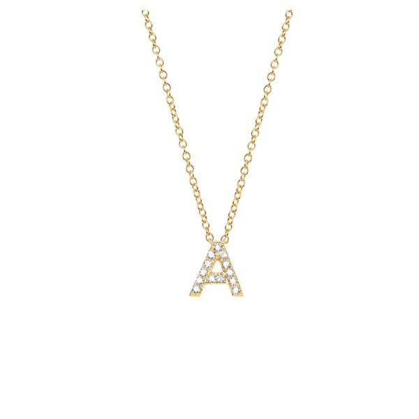 EF COLLECTION DIAMOND INITIAL NECKLACE
