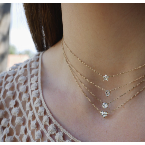 EF COLLECTION DIAMOND STAR CHOKER NECKLACE