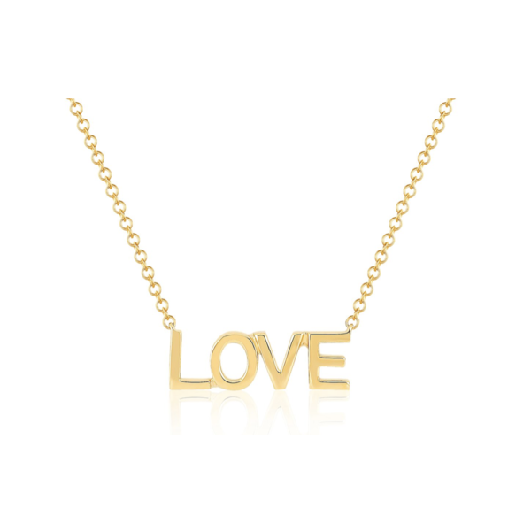 EF COLLECTION MINI GOLD LOVE NECKLACE