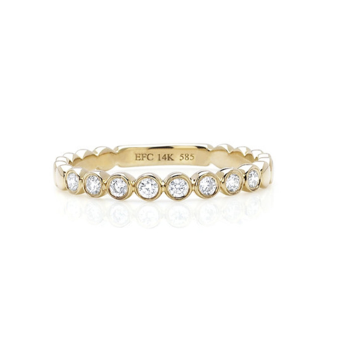 EF COLLECTION EF COLLECTION DIAMOND BEZEL STACK RING