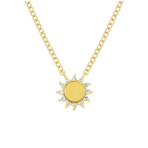 EF COLLECTION EF COLLECTION YOU ARE MY SUNSHINE NECKLACE