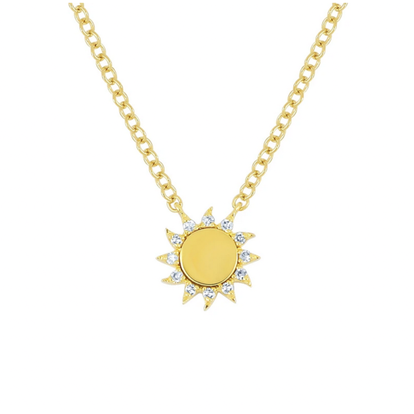 EF COLLECTION YOU ARE MY SUNSHINE NECKLACE