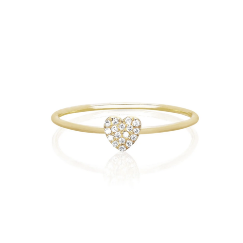 EF COLLECTION EF COLLECTION DIAMOND MINI HEART STACK RING
