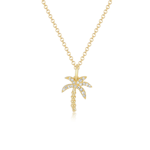 EF COLLECTION EF COLLECTION DIAMOND WILD PALM NECKLAE