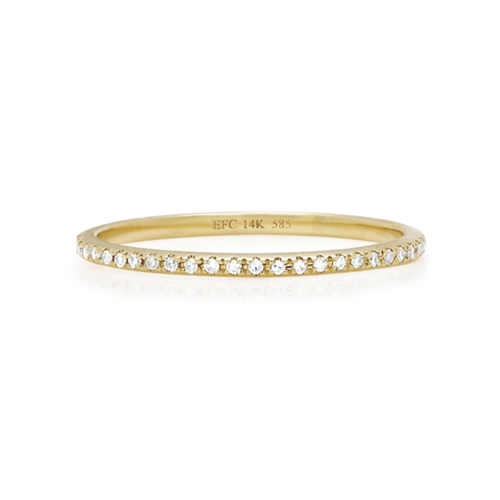 EF COLLECTION EF COLLECTION DIAMOND ETERNITY STACK RING
