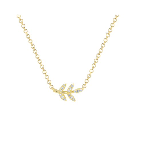 EF COLLECTION EF COLLECTION DIAMOND LEAF NECKLACE